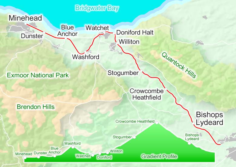 WSR West Somerset Railway Map
